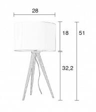 Tripod - tafellamp- afmetingen