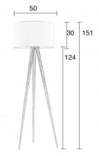 Tripod - vloerlamp- afmetingen