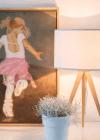 sfeerfoto tripod wood tafellamp