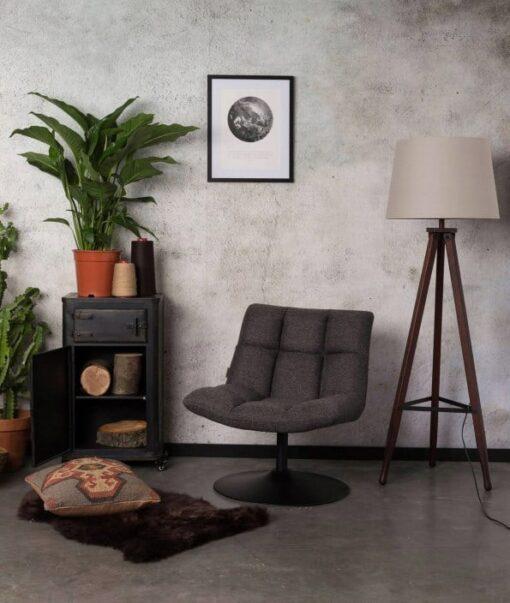 dutchbone bar lounge fauteuil grijs 5