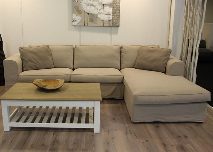 Hoekbank cottage zits met divan meubilex