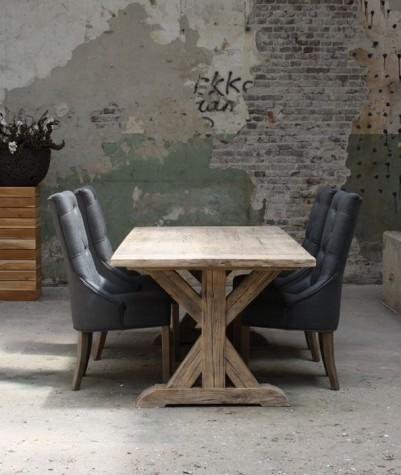 Old Pine tafel met kruispoot 300 x 100 cm