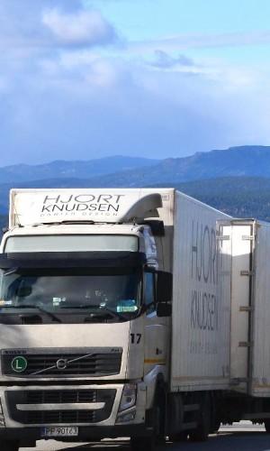Hjort knudsen vrachtwagen