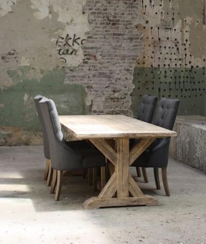Old Pine tafel met kruispoot