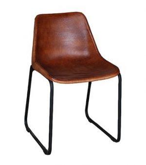 Vintage stoel bruin