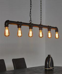 Hanglamp 6 industrial tube