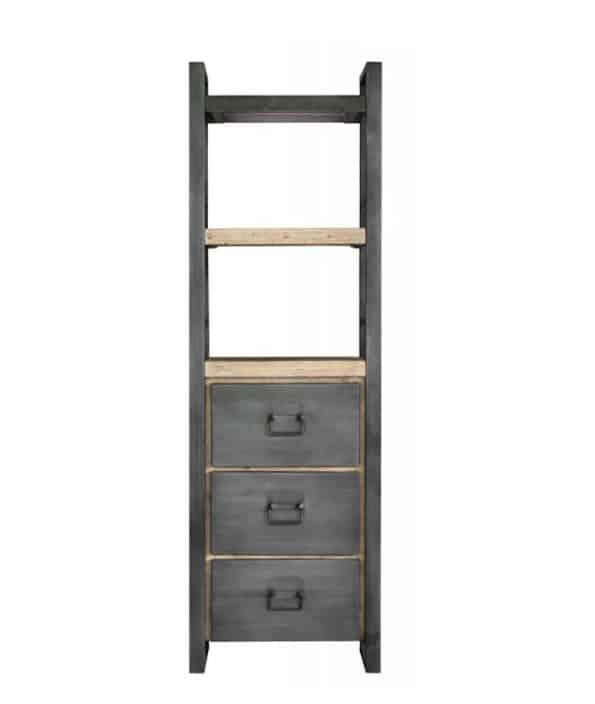 Industriële boekenkast met lades en planken Meubilex