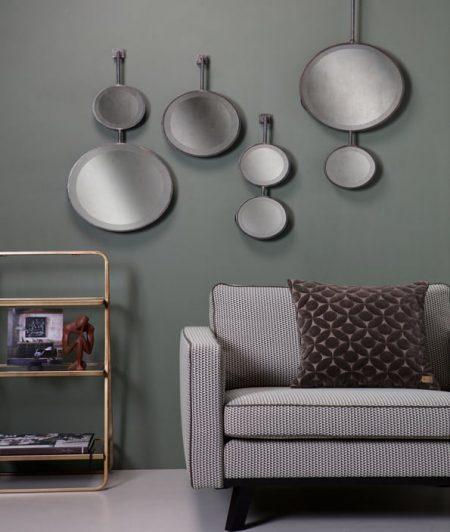 Chain dubbele spiegel antique zwart verkrijgbaar bij meubilex