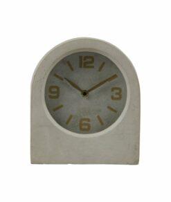 Een mooie beton grijze timeless klok verkrijgbaar bij Meubilex