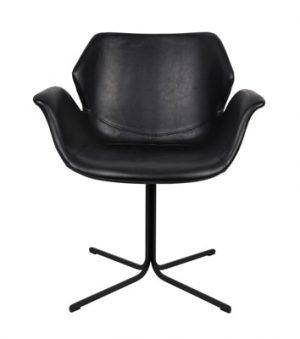 Mooie zwarte PU-leren stoel