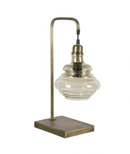 Obvious tafellamp antique brass