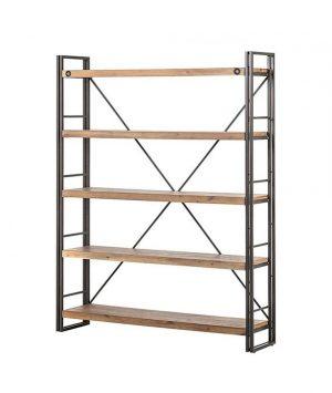 Open boekenrek industrieel 150cm