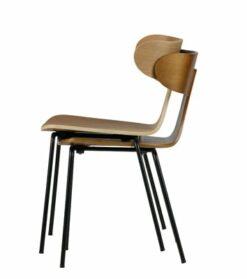 Form houten stoel met metalen poot - BePure