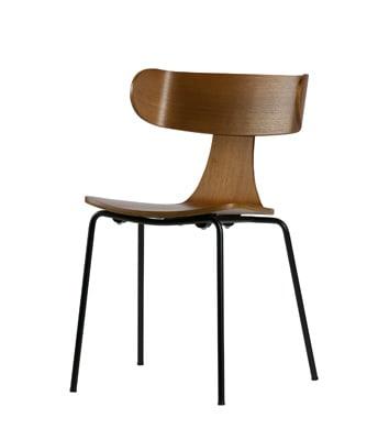 Form houten stoel met metalen poot bruin - Bepurehome