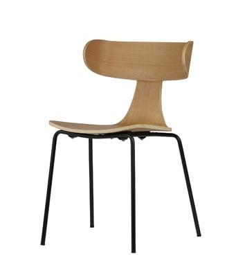 Form houten stoel met metalen poot naturel - Meubilex