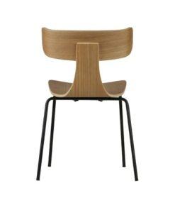 Form houten stoel met metalen poot naturel achterkant