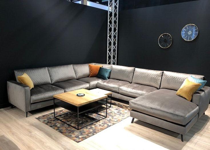 Luxe Lounge Bankstellen.Hoekbank Demi In U Opstelling