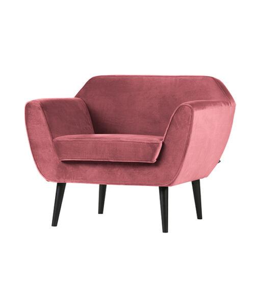 Fauteuil rocco velvet roze