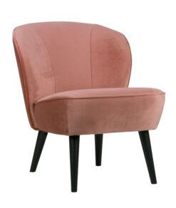 Fauteuil sara oud roze voorkant