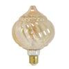 Deco LED globe Ø125x175 cm BAROQUE 4W amber E27 dimbaar