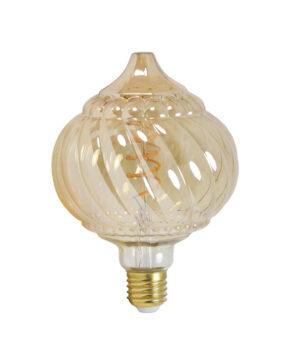 Deco LED globe Ø12,5x17,5 cm BAROQUE 4W amber E27 dimbaar