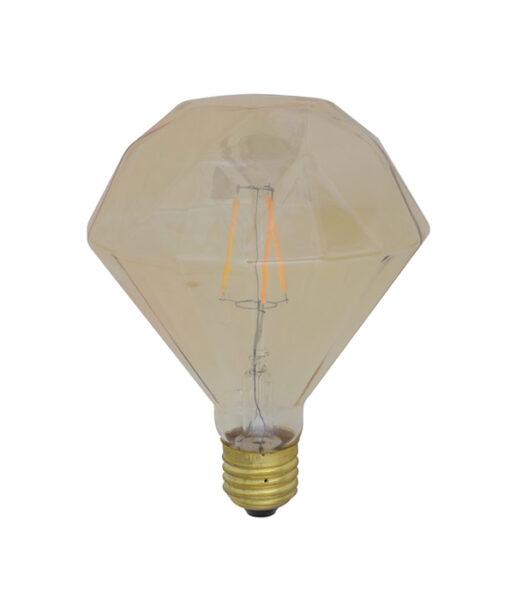 LED diamant Ø11x13 cm LIGHT 3W amber E27