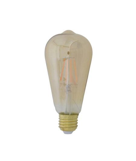 LED hoekig Ø6,5x14,5 cm LIGHT 4W amber E27 dimbaar