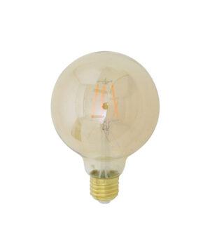 LED kogel Ø9,5x14 cm LIGHT 4W amber E27 dimbaar
