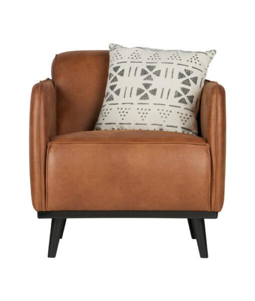 Statement fauteuil met arm eco leer cognac 2