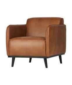 Statement fauteuil met arm eco leer cognac