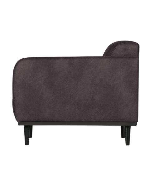 Statement fauteuil met arm eco leer grijs 3