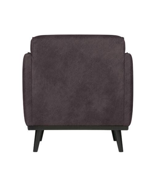 Statement fauteuil met arm eco leer grijs 4