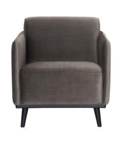 Statement fauteuil met arm fluweel taupe 2