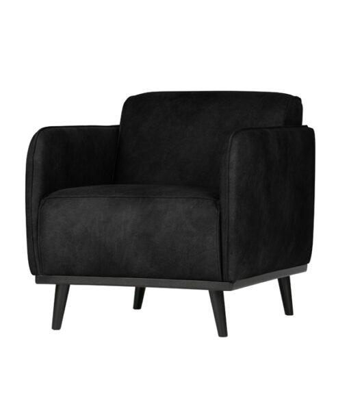 Statement fauteuil met arm suedine zwart