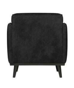 Statement fauteuil met arm suedine zwart 4