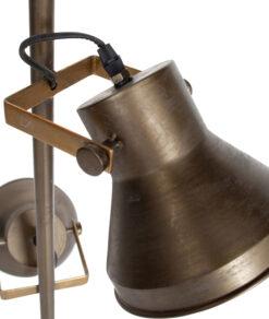 Triplet staande lamp metaal antique brass 2