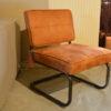 Bruine fauteuil leer