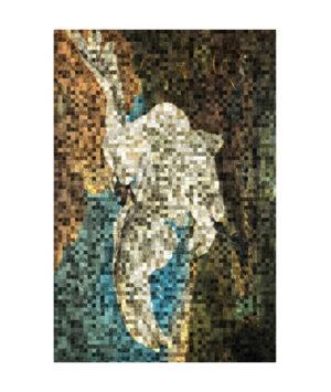Bedreigde zwaan pixels