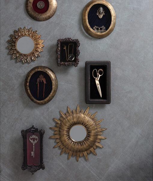Confess spiegel metaal rond 2