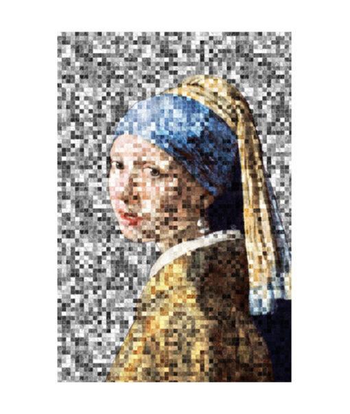 Girl Pearl Earring pixels