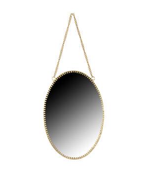 Portrait spiegel metaal ovaal1