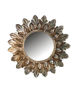 Sunshine spiegel metaal rond1