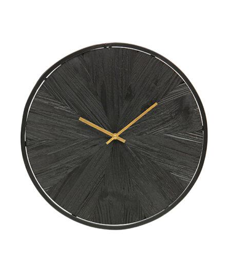 Wandklok hout zwart1