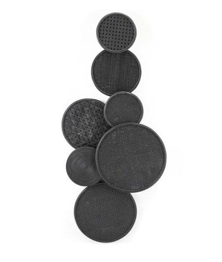 Wanddecoratie round en round zwart