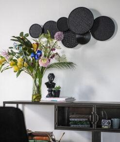 Wanddecoratie round en round zwart sfeerfoto