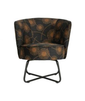 Bloom fauteuil fluweel zwart1