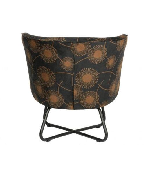 Bloom fauteuil fluweel zwart2