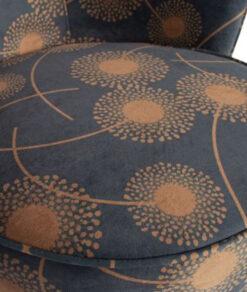 Bloom fauteuil fluweel zwart3