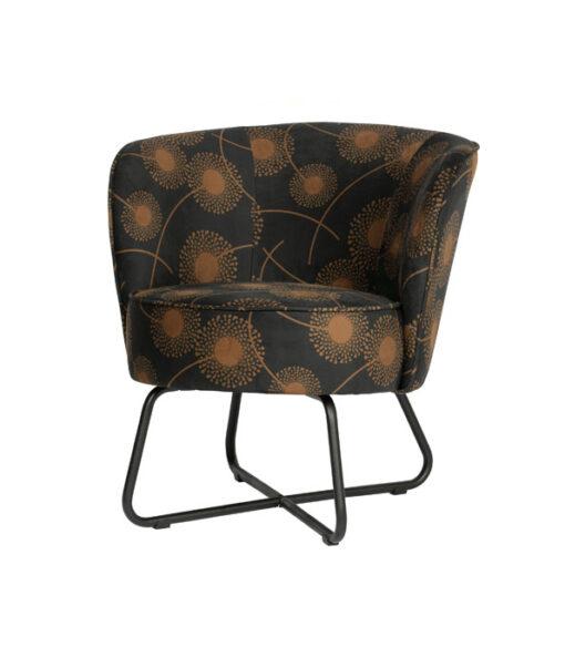 Bloom fauteuil fluweel zwart4
