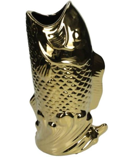 Vase Fish Gold 2